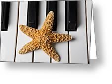 Starfish Piano Greeting Card