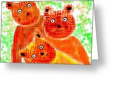 Stargazing Teddy Bears Greeting Card