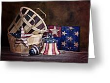 Stars And Stripes Still Life Greeting Card by Tom Mc Nemar