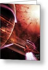 Starships Hone Their Skills Greeting Card