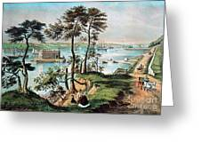 Staten Island And The Narrows, 20th Greeting Card