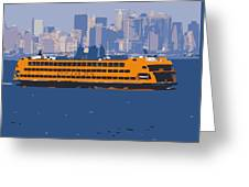 Staten Island Ferry Color 16 Greeting Card