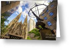 Statue And Spires Greeting Card