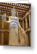 Statue Of Athena And Nike Greeting Card