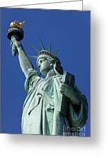 Statue Of Liberty Greeting Card by Brian Jannsen