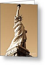 Statue Of Liberty Greeting Card