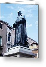 Statue Of Paolo Sarpi, Venetian Scientist Greeting Card