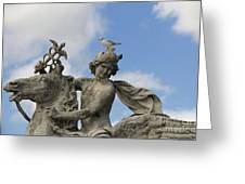 Statue . Place De La Concorde. Paris. France Greeting Card