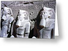 Statues Of Ramses II Greeting Card by Granger