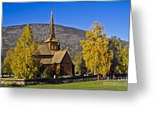 Stave Church In Lom Greeting Card