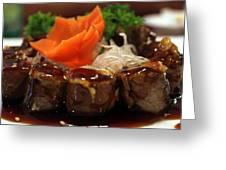 Steak Roll Greeting Card