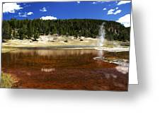 Steam At Firehole Lake Greeting Card