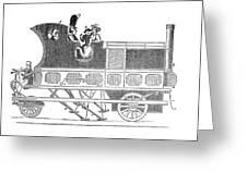 Steam Coach Greeting Card