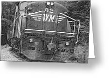 Steam Engine Eighty Two Greeting Card
