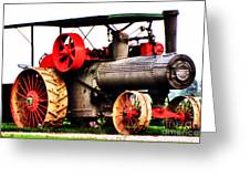 Steam Engine Tractor  Greeting Card