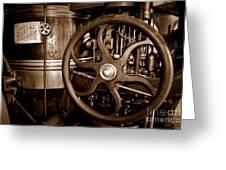 Steam Wheel Greeting Card