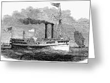 Steamboat, 1850 Greeting Card