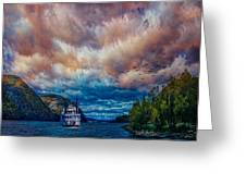 Steamboat On The Hudson River Greeting Card