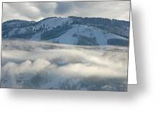 Steamboat Ski Area In Clouds Greeting Card