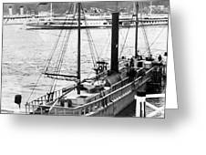 Steamer In The Hudson River - New York - 1909 Greeting Card