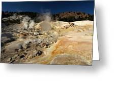 Steaming Organge Crust Greeting Card