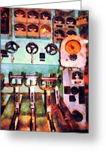Steampunk - Electrical Control Room Greeting Card