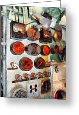 Steampunk - Gauges In Engine Room Greeting Card