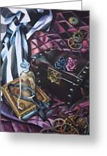 Steampunk Still Life Greeting Card by Lori Keilwitz