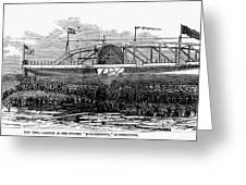 Steamship Launch, 1876 Greeting Card