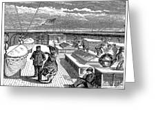 Steamships: Deck, 1870 Greeting Card