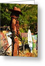 Steel Gunfighter Greeting Card