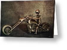 Steel Horse 2 Greeting Card
