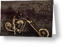 Steel Horse Greeting Card