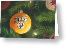 Steelers Ornament Greeting Card