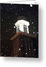 Steeple In The Snow Greeting Card