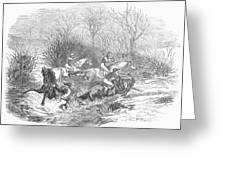 Steeplechase, 1847 Greeting Card
