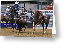 Steer Wrestling  Greeting Card