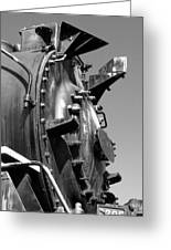 Steme Engine Front Black And White Greeting Card