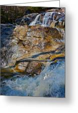 Step Falls In Soft Light Greeting Card