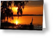 Stephanies Sunset  Greeting Card