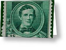 Stephen Collins Foster Postage Stamp Greeting Card