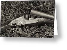 Stephen Grant And Sons Side Lever Twelve Bore - D003359-bw Greeting Card
