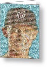 Stephen Strasburg Card Mosaic Greeting Card