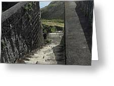 Steps Above The Sea Greeting Card
