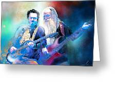 Steve Lukather And Leland Sklar From Toto 02 Greeting Card