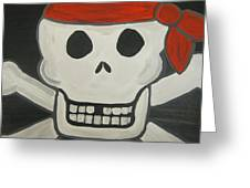 Steve The Pirate After Dark Greeting Card