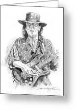Stevie's Blues Greeting Card by David Lloyd Glover