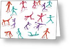 Stickmen October Two Thousand One Greeting Card