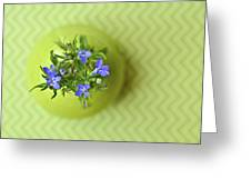 Still Life In Delicate Green Greeting Card