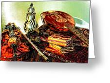 Still Life. Musical Instruments.  Greeting Card